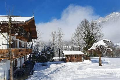 Schöne Wohnung im Bauernhaus mit wunderschönen Ausblick als Freizeitwohnsitz/Zweitwohnsitz - Nähe Skigebiet Scheffau/Söll
