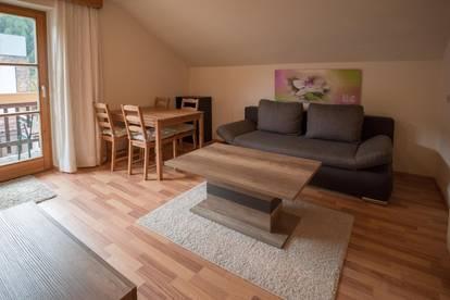 Vermiete mitten in Prutz, ab sofort, ruhige sonnige, vollmöblierte  2 Zimmerwohnung mit Südbalkon !