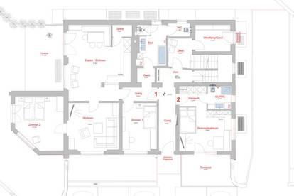 Garçonnière, 4-, oder 5-Zimmer Wohnung in Reutte - Toplage mit großem Garten