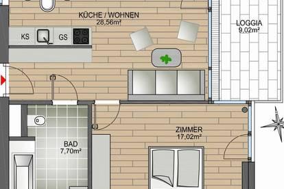 NEU! 2-Zimmer-Wohnung im Zentrum von Privat - Kulturquartier