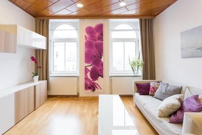 Helle und ideal geschnittene 3 Zimmer Wohnung mit freiem Blick zum Riesenrad