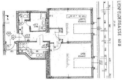 D.G. 2 Zimmer-Wohnung mit Blick auf den Wilhelminenberg