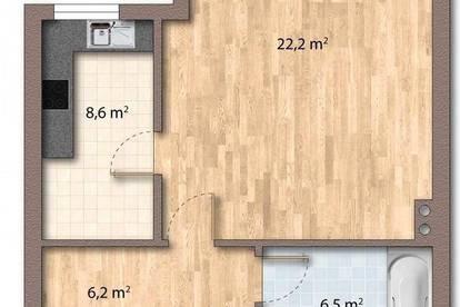 45m² Garconniere: sonnige Hofruhelage und Tiefgaragenplatz - Privat und Provisionsfrei