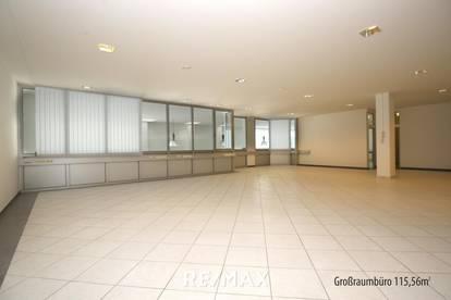 Modernes Großraumbüro mit Top-Anbindungen