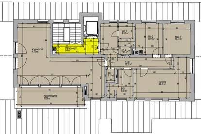 Große Wohnung mit 3 Schlafzimmern und Wohnküche