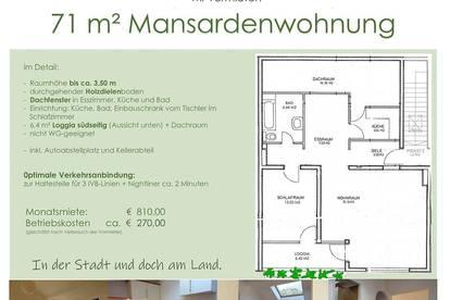 71m² Dachgeschoßwohnung/Mansarde in Arzl, traumhafte Lage und Aussicht