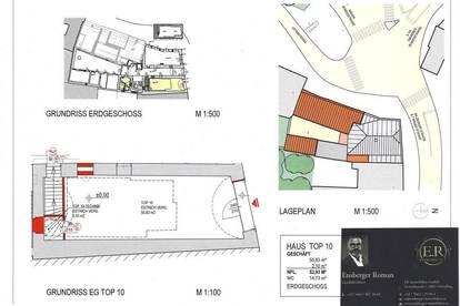 ZWEI Preiswertes Kleines feines Zentral gelegenes Geschäftslokale zu Mieten 58m2 oder 66m²