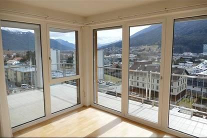 Sonnige 4-Zimmer Wohnung - Penthouse im westlichen ruhigen Zentrum von Telfs, naturnah und gute Verkehrsanbindung