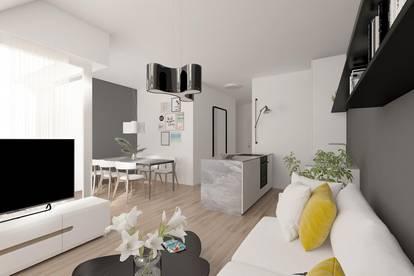 helle DG-Wohnung mit 2 Zimmer und Terrasse mit Blick in einen grünen Innenhof - zu Verkaufen!