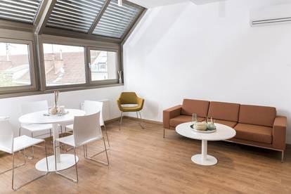 Vollmöblierte und attraktive Wohnung mit Klimaanlage & Dachterrasse , ALL IN MIETE!