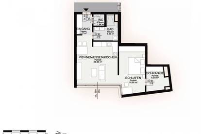 Erstbezug | 2 Zimmerwohnung am Eingang zur Kremser Altstadt | PROVISIONSFREI vom Eigentümer | TOP D 208