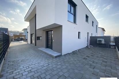 Vor Fertigstellung: Taumhafte Doppelhaushälfte beim Bahnhof Tullnerfeld in Pixendorf