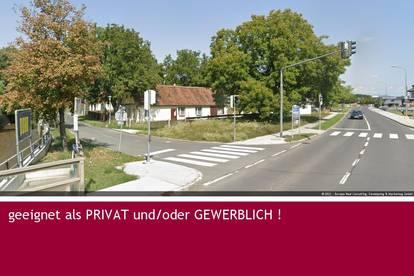 2.060 m² ECK-GRUNDSTÜCK mit Bestandshaus PRIVAT und/oder GEWERBLICH