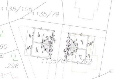 Grundstück mit Altbestand, nach Teilung wären 2 Doppelhäuser/ 4 Einheiten möglich