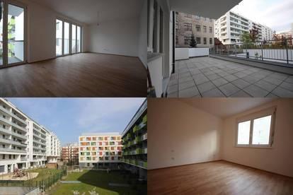 Provisionsfreie 3-Zimmer Neubau Wohnung mit großer Terrasse direkt an der U3 Enkplatz