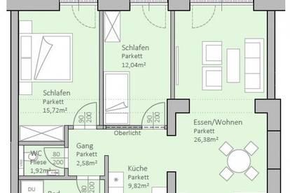 Hochwertige, neue Gartenwohnung am Klopeiner See mit 82 m² Wohnfläche und 29 m² Terrasse, TOP 2, EG - keine Maklerprovision