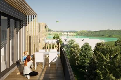 Exklusive, neue Seeblick-Dachgeschosswohnung am Klopeiner See mit ca. 51 m² Wohnfläche, TOP 13V, DG