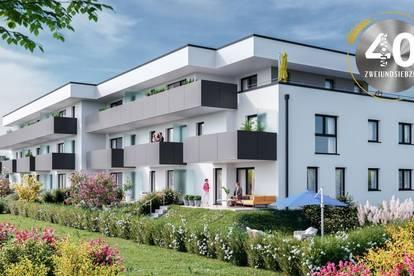 """Neubauprojekt """"Vierzig72"""" - Ideale 2 ZI-Wohnung mit Balkon im Zentrum von Alkoven"""