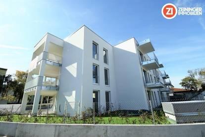 Moderne Neubau 2 ZI-Wohnung mit Küche u. Garten
