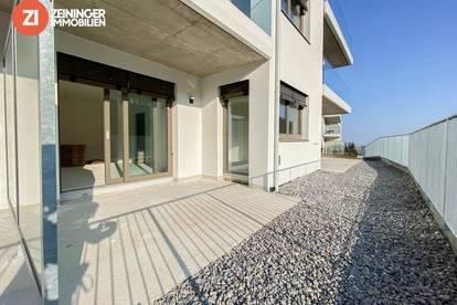 !NEUBAU! Erstklassige 2-Zimmerwohnung mit großer Terrasse über den Dächern von Linz