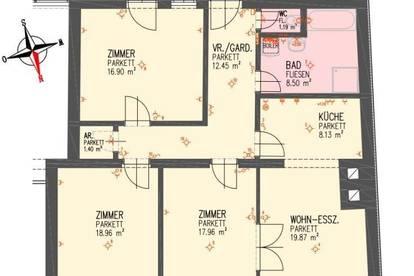 WG´s aufgepasst!! TOP 4 ZI-Terrassenwohnung am Ennser Hauptplatz - mit Küche - unbefristetes Mietverhältnis