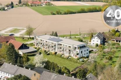 """Neubauprojekt """"Vierzig72"""" - Elegante 2 ZI-Wohnung mit Balkon im Zentrum von Alkoven"""