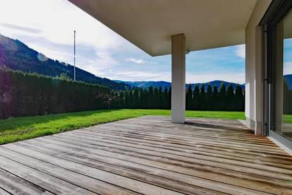 Stilvolle Gartenwohnung mit Bergblick