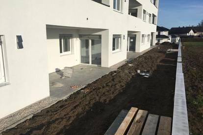 Geförderte sonnige Neubauwohnung mit Terrasse und Eigengarten ab Euro 579,-/ Monat im Eigentum