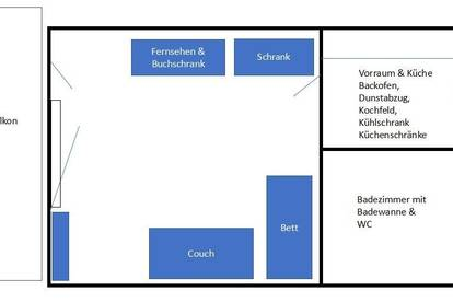 Garconniere direkt beim LKH Eingang / Klinikum Klagenfurt