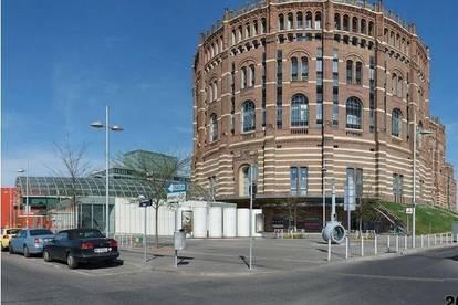 60m² 2-Z-Neubauwohnung im Gasometer A (direkt bei U3-Station) mit Wienblick