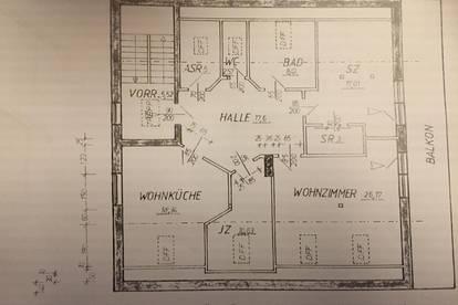 110 m2 Dachgeschoßwohnung in Perg/Schwemmplatz mit Dachterrasse und Balkon