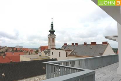 DG-Ordination mit Terrasse und Blick über Hainburg! Inkl. Kundenparkplätze!