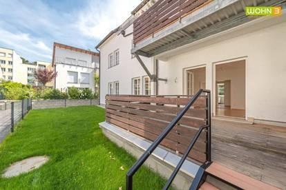 Stockerau: Gartenwohnung auf der Marienhöhe mit Wohnzimmer - Esszimmer - 2 Schlafzimmern