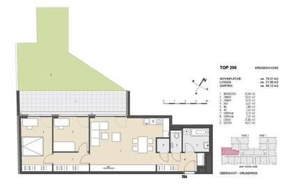 Garten-Wohnung | 3 Zimmer + ca. 62 m² Außenfläche | Neubau | Mitte 2021 | Provisionsfrei