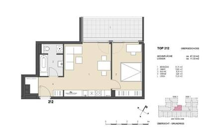Moderne 2 Zimmer Wohnung mit 11,33 m² Loggia | Neubau/Erstbezug | Provisionsfrei | Mitte 2021
