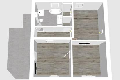 65m² Wohnung mit Terrasse und eigenen Eingang