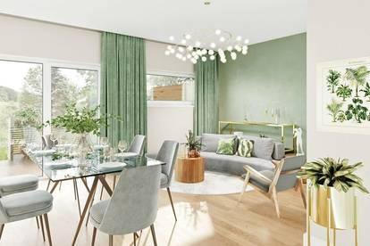 ALLAND Traumhafte 3 Zimmer Gartenwohnung in schöner Ortsrandlage - Fertigstellung September