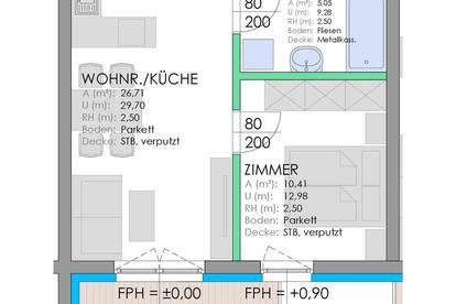 Neubau Stadtwohnung - Wohnanlage Rizzistraße 7 - Nähe Stadtpark