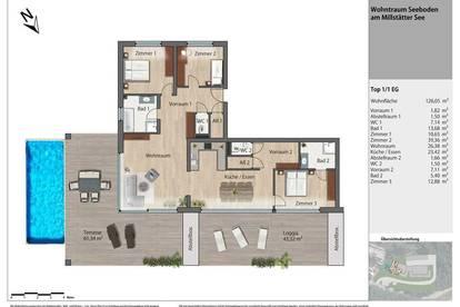 SEEBLICK DELUXE - Exklusiver Wohntraum mit Infinity Pool am Millstättersee