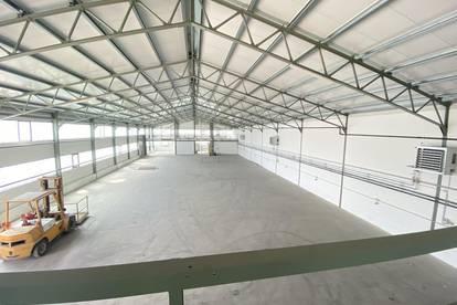 Sanierte große Lagerhalle mit Bürofläche