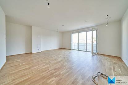 NEU! ERSTBEZUG mit Bisambergblick: Großzügige, helle Balkonwohnung mit 3 Zimmern   inkl. Garagenplatz   optional mit Kleingarten