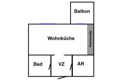 33m2 Single-Wohnung: Möbliert, Ruhig und Provisionsfrei!