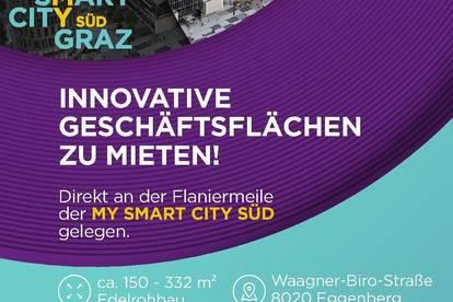 Hippe Geschäftsflächen direkt in der My Smart City Graz zu vermieten!