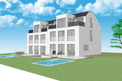 Doppelhaushälften mit privatem Swimmingpool zum Erstbezug (Haus 2)