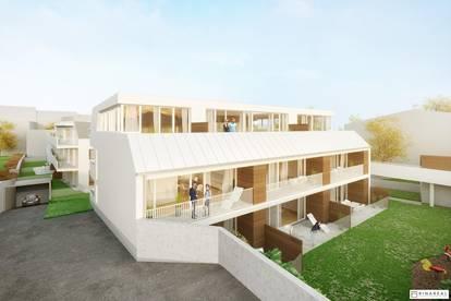 Wohnen im Villenviertel | 4 Zimmer Wohnung mit Loggia & Terrasse (EG) | Hügelgasse | Fertigstellung April 2020