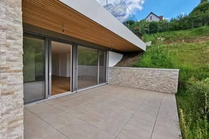 *Erstbezug: Stilvolle 3-Zimmer-Wohnung mit Westterrasse Nähe Schloss Lustbühel!