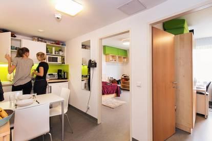 Komplett möblierte Einzelzimmer im Technologiepark Villach - freie Plätze ab 1.2.2020 verfügbar