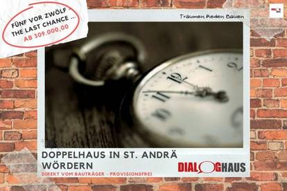 The last chance! - Doppelhaushälfte in St. Andrä Wördern