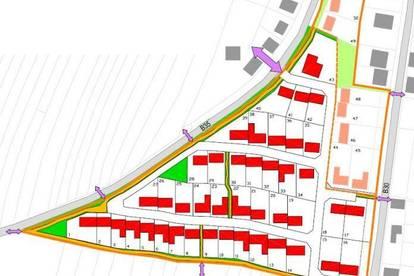 Bauplatz in neuem Siedlungsgebiet