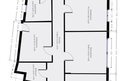 Erstbezug: große, moderne, sonnige Wohnung in zentraler Lage